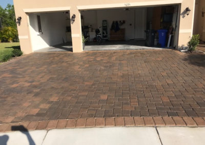 Cleaned, sanded, and sealed this Paver driveway in Wimauma protecting it from UV Ray damage. 13
