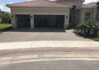Cleaned, sanded, and sealed this Paver driveway in Wimauma protecting it from UV Ray damage. 7