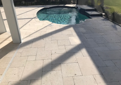 Travertine patio cleaned,sanded, and sealed adding a non slip additive 3